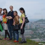 SRAS students exploring the hills of Vladivostok