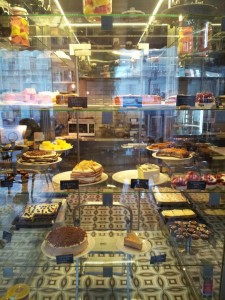 If you're already overwhelmed by the selection in this photograph, be prepared. This display case reaches the ceiling!