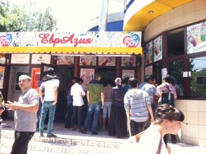 Line to get into Altyn Dan