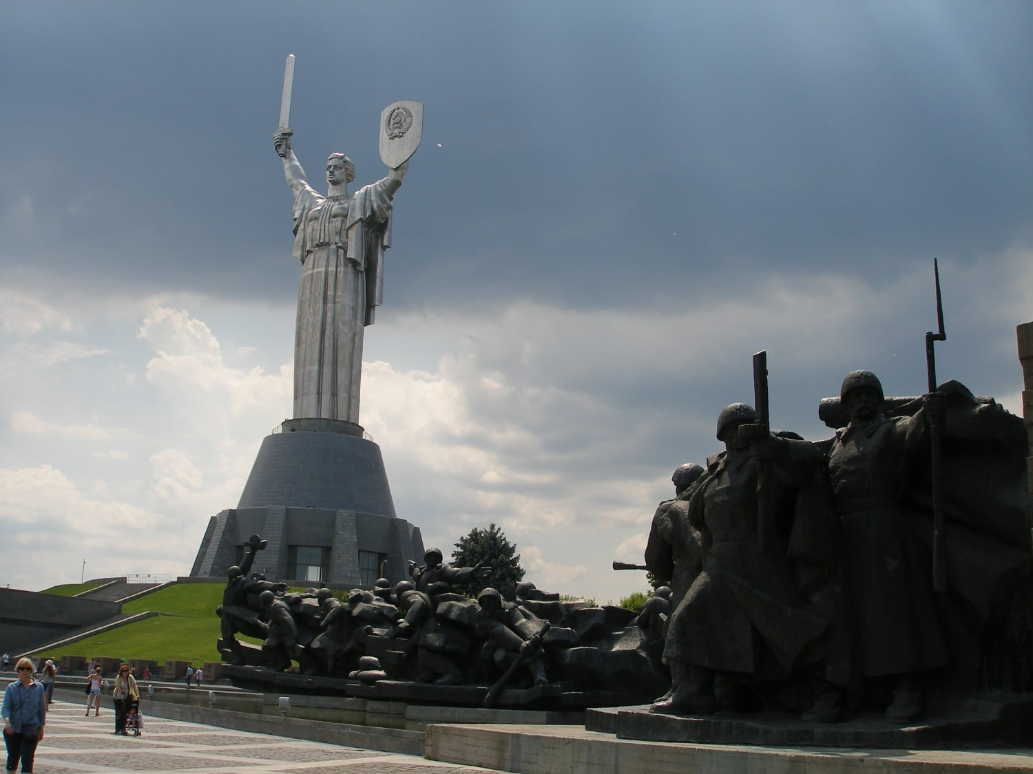 """""""Fording the Dnipro"""" and """"Mother Motherland"""""""