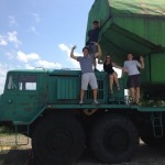 Fellow SRAS students having some fun atop a mobile missile truck