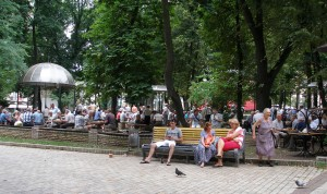 Chess match in Taras Shevchenko Park