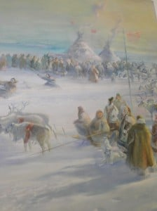 A depiction of indigenous Siberian life
