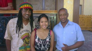 The author with two former Ethiopian pilots