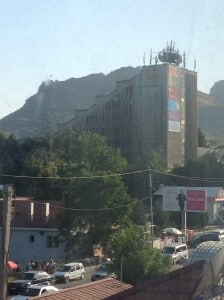 Suleiman's Mountain looming over the city center