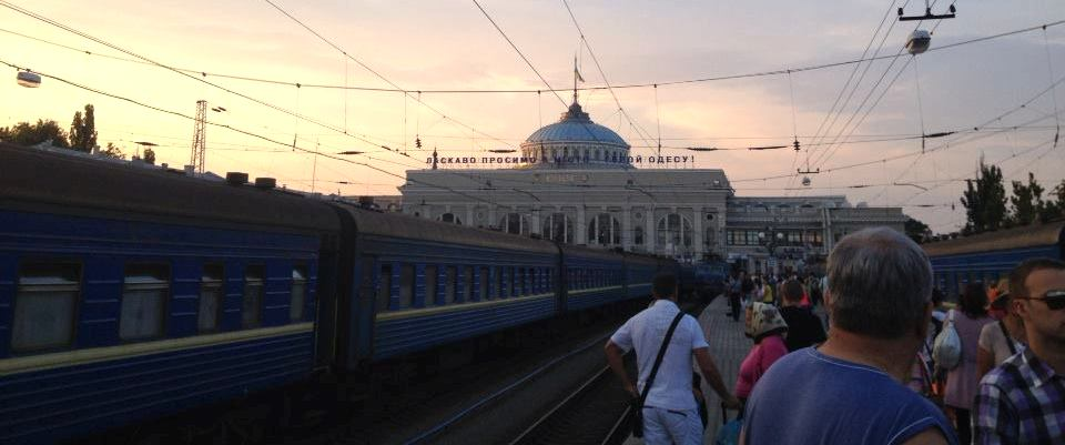 Arrival at Odessa Trainstation