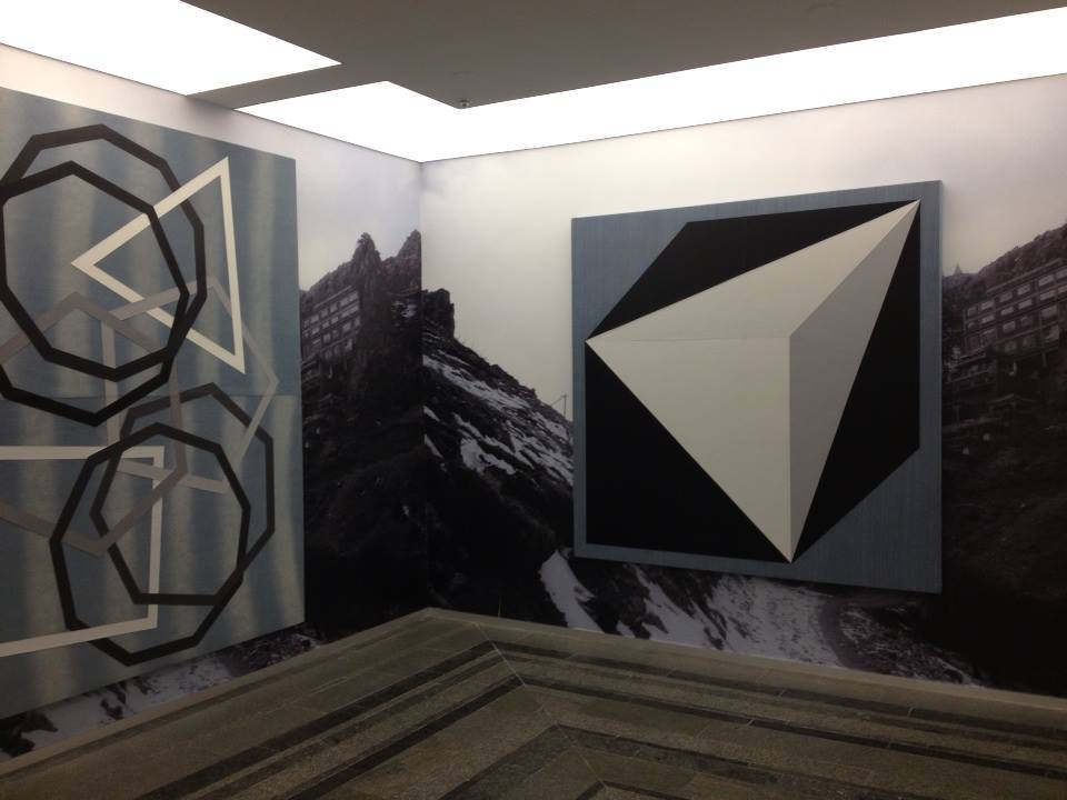 A section of one of the many exhibits of modern art inside the PinchukArtCentre.