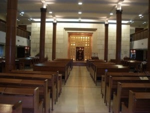 The interior of the Moscow JCC's synagogue.