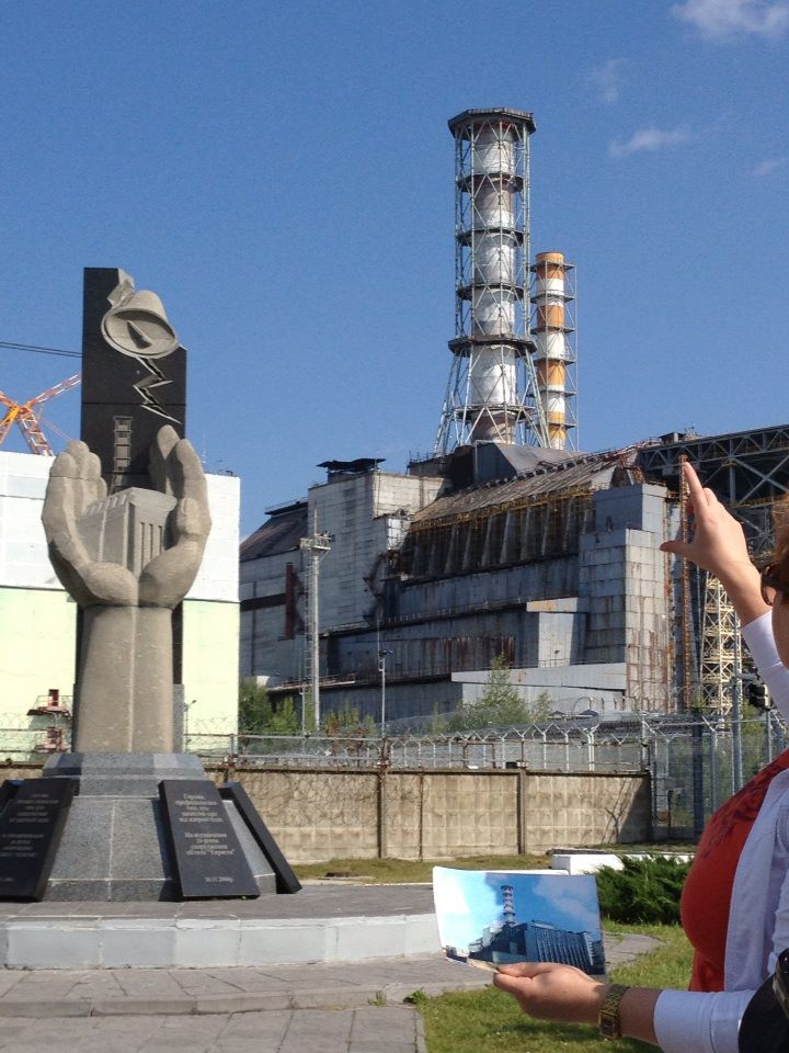 The infamous Reactor #4 at the Chernobyl Nuclear Power Plant. This is the closest tour groups are allowed to get to ground zero of the Chernobyl disaster.