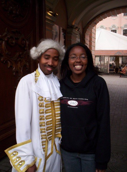 This is the African grad student I met. He was a computer engineer, so I guess we had something else in common!