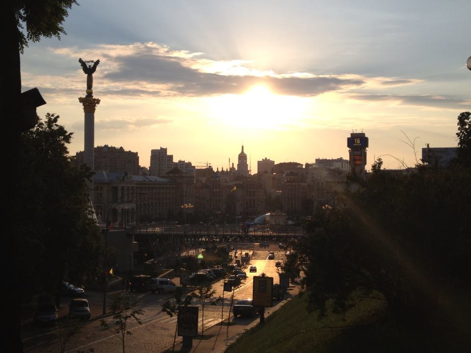 Kyiv, Ukraine on a summer evening. Receiving TORFL certification was one of the highlights of my summer stay.