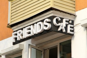Friends Cafe Sign