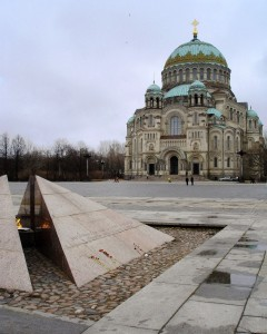 Kronstadt Navy Cathedral and Eternal Flame in Anchor Square