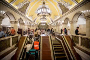 Inside the metro (Moscow)
