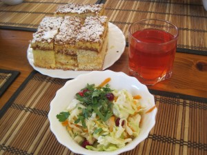 Examples of the Tolstoy Family Recipes available at the restaurant