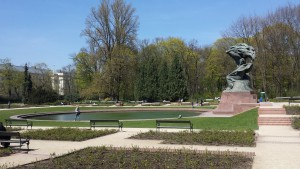 The monument to Chopin in Łazienki Park