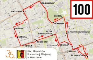 Route 100 during KMKM's 35th anniversary celebrations