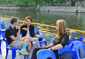 Special meeting with a local expert on the Berlin boat ride.