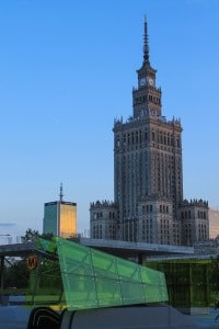 Warsaw architectural styles through the times
