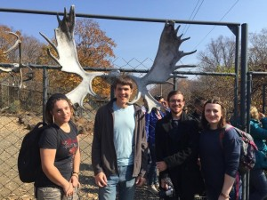 Our excursion group, and me with some big antlers!