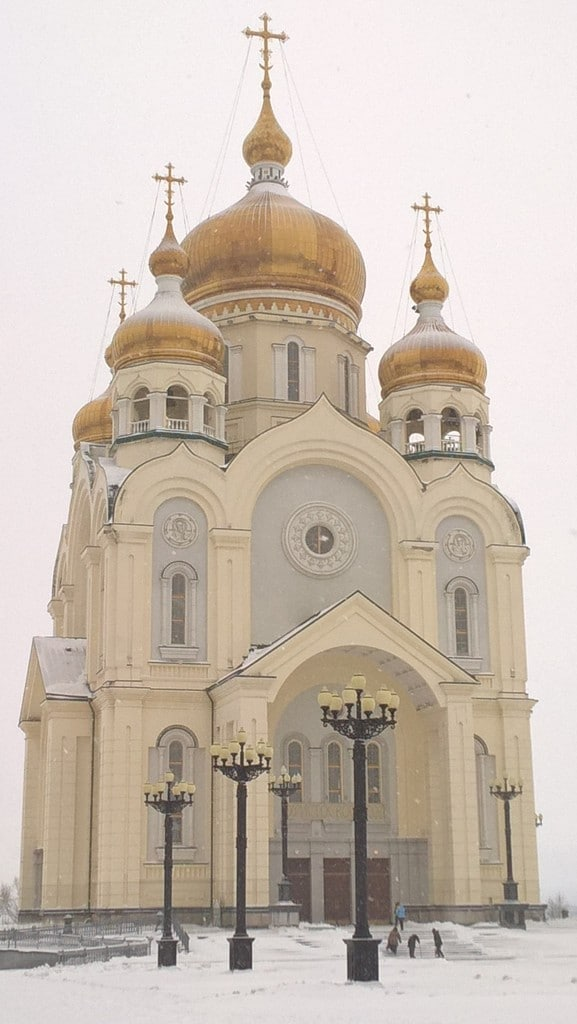 One of Khabarovsk's stately churches