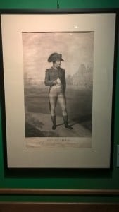 Napoleon: One of the French prints on display.