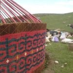12. The yurt walls are complete.