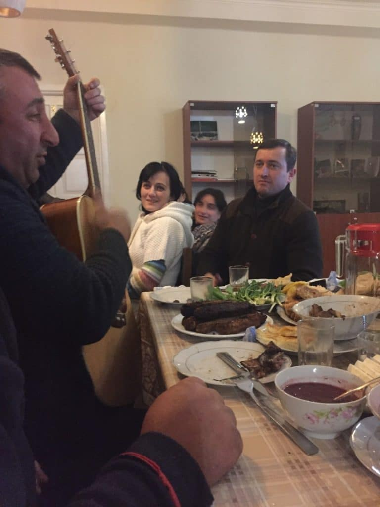 A family of Georgians we joined for dinner