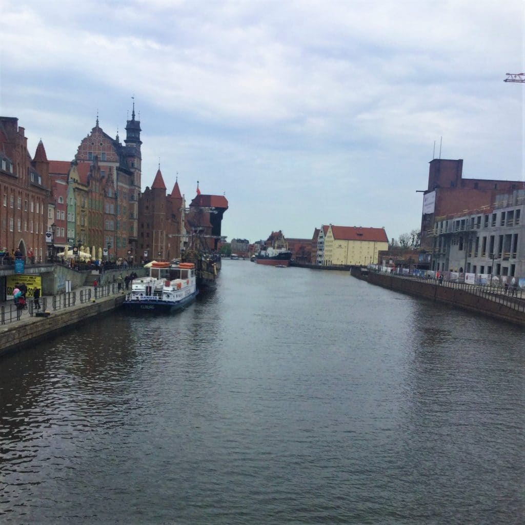 Gdańsk is perched on the Motława River.